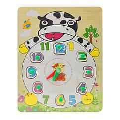 Деревянная игрушка Часы Bambi MD 2036 (Корова)