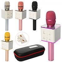 Мікрофон на акум.,28см,USB,Bluetooth,в футлярі,28х11,5х7см,мікс кольор. №Q7(10)