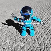 Интерактивный робот повторюшка со светом и звуком на русском языке, повторяет фразы, высота 13,5 см 1341BL