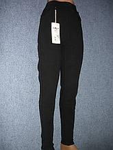 """Штани жіночі джинсові """"Kenalin"""" з кишенями на хутрі. р. 6XL. Чорні"""