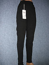 """Штаны женские джинсовые """"Kenalin"""" с  карманами на меху. р. 6XL. Черные"""