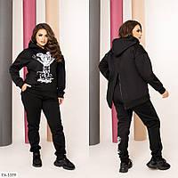 Молодежный теплый прогулочный костюм микки штаны и кофта из трёхнитки на флисе Размер: 42-44, 46-48 арт. 6205, фото 1