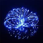 Гірлянда нитка світлодіодна Краплі Роси 20 LED, Синя (Блакитна), дріт, на батарейках, 2м., фото 5