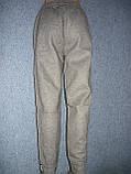 """Жіночі штани """"Black Cyclone"""" з манжетом. Молодіжка. р. 4XL/5XL. Сірі, фото 6"""