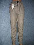 """Женские штаны """"Black Cyclone"""" с манжетом. Молодежка. р. 3XL/4XL. Бежевые, фото 2"""