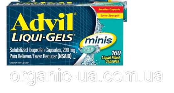 160 капсул ! Advil Адвіл Ібупрофен Знеболювальну та жарознижувальну, Advil Ibuprofen Pain Reliever 200 mg16