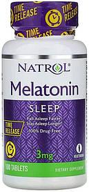 Мелатонін повільного вивільнення, Natrol Melatonin 3mg (100tab)