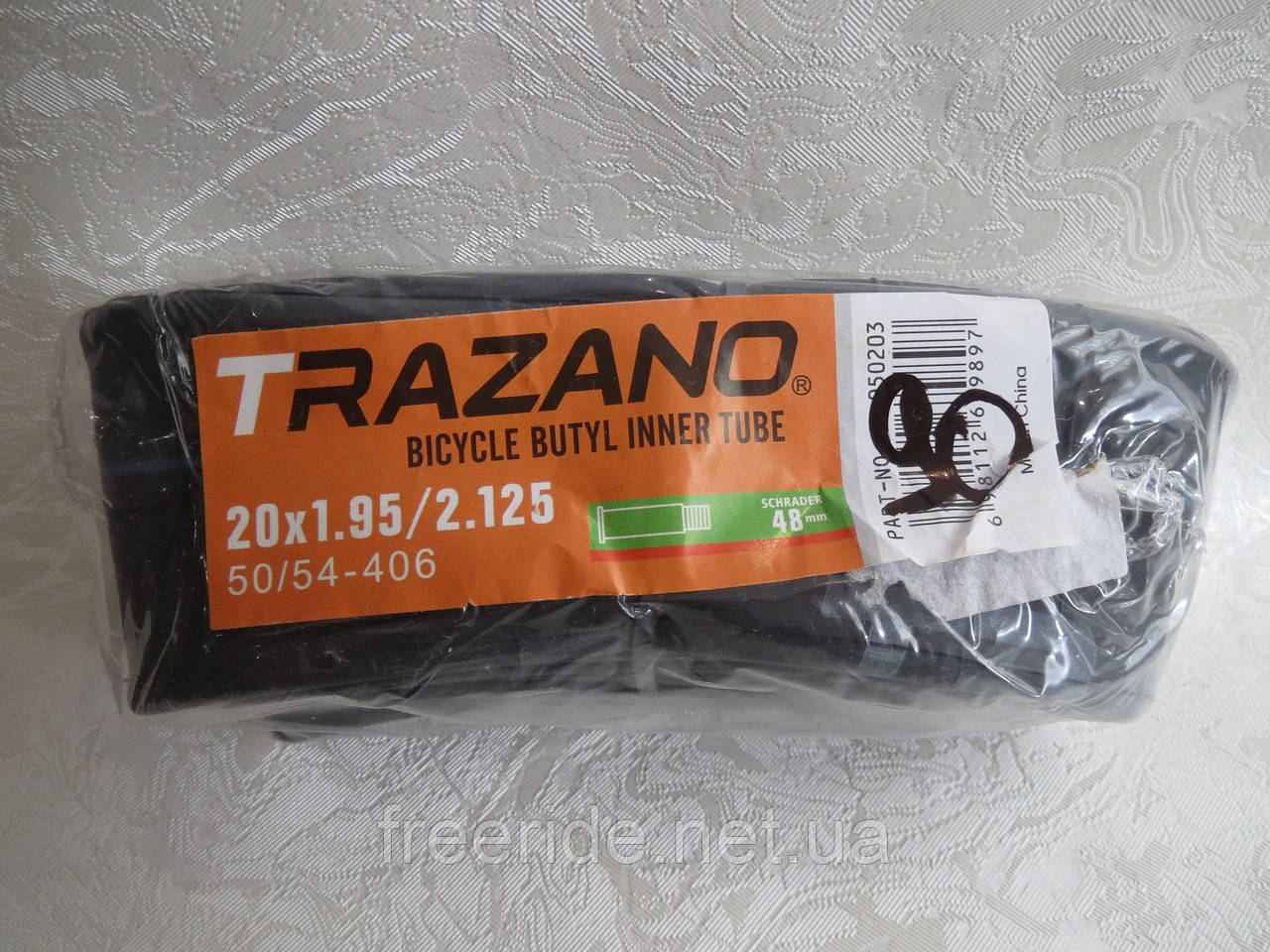 Велокамера TRAZANO 20 x1.95/2.125 (50/54-406) 48мм