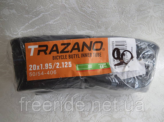 Велокамера TRAZANO 20 x1.95/2.125 (50/54-406) 48мм, фото 2