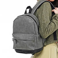 Женский небольшой повседневный рюкзак TGR Sе 014 эко-кожа серого цвета, фото 1