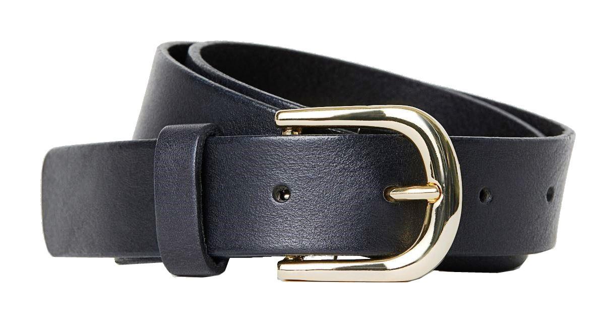 Кожаный женский ремень H&M черный