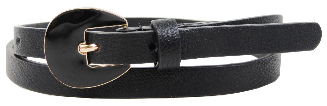 Женский узкий ремень из эко кожи H&M черный 1,5см