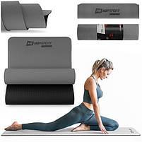 Мат для фитнеса и йоги Hop-Sport TPE 0,6 см HS-T006GM Серый, фото 9