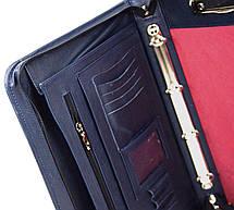 Мужская кожаная деловая папка Portfolio Port1005 синяя, фото 2
