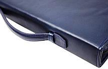 Мужская кожаная деловая папка Portfolio Port1005 синяя, фото 3