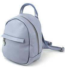 Небольшой кожаный рюкзак женский Borsacomoda 3 л голубой, фото 2