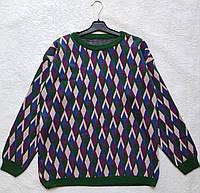 Красивый свитер OVERSIZE с геометрическим принтом, фото 1