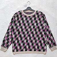 Модний светр OVERSIZE з геометричним принтом