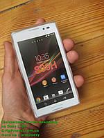 Sony Xperia_C, белый_силиконовый чехол, фото 1