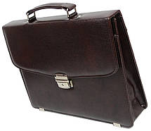 Небольшой мужской портфель из эко кожи Exclusive, Украина коричневый, фото 3