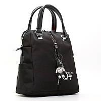 Рюкзак сумка городской текстильный черный 1721