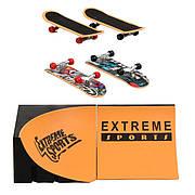Набор фингерборд Skatepark fingerboard скейт парк пальчиковый скейт-фингерборд с рампой и 2 скейта 505D