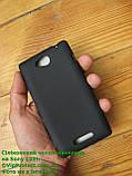 Sony Xperia_C, черный_силиконовый чохол, фото 5