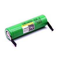 Акумулятор 18650 высокотоковый з клемами Liitokala INR18650-25R Li-ion 3.6 В 2500мАч 20А