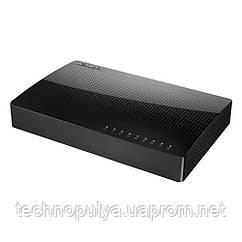 Комутатор (світч) Tenda SG108 (Чорний, 8 LAN портів 10/100/1000 Мбіт/с)