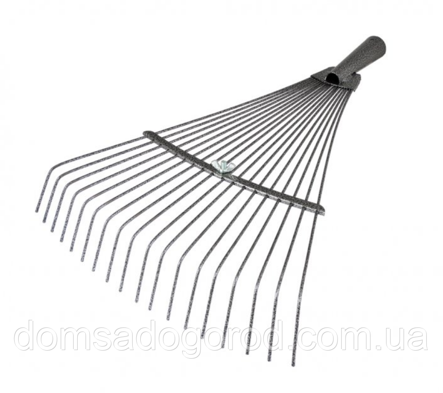 Грабли Mastertool веерные раздвижные молотковая краска 18 зубьев 500*390 мм
