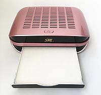 Вытяжка для маникюра SML C1 68 Вт с фильтром розовая