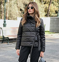 Зимова жіноча куртка дута на синтепухе