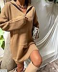 Женское короткое осеннее платье с ангоры со змейкой, 42-44, 44-46, оливка, черный, молоко, кэмел, фото 3