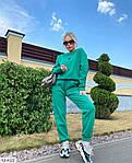 Жіночий спортивний костюм на флісі «Сердечко», 42-44, 44-46, лаванда, малина, зелений, чорний, молоко, фото 3