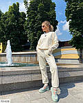 Жіночий спортивний костюм на флісі «Сердечко», 42-44, 44-46, лаванда, малина, зелений, чорний, молоко, фото 7