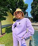 Жіночий спортивний костюм на флісі «Сердечко», 42-44, 44-46, лаванда, малина, зелений, чорний, молоко, фото 9