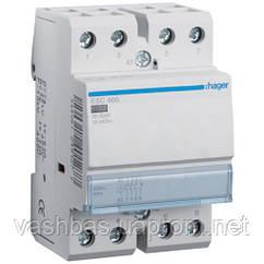 Hager Контактор Hager ESC466 230 В/63 A, 1 НЗ + 3 НО