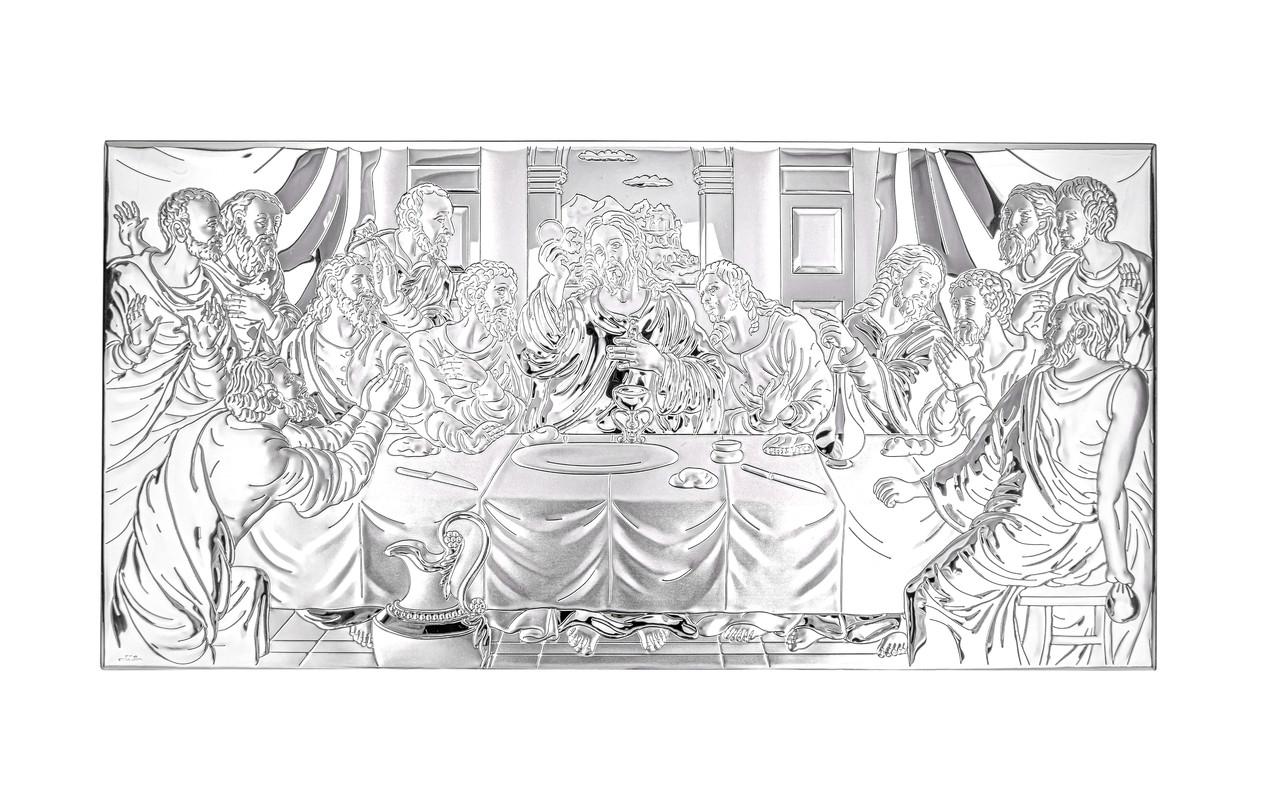 Икона серебряная Тайная Вечеря 26х15см 81323.5XL