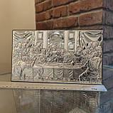 Икона серебряная Тайная Вечеря 26х15см 81323.5XL, фото 2