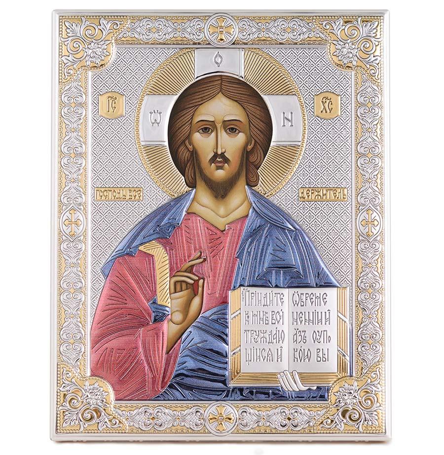 Ікона срібна Ісус Христос Вседержитель 20х26см 85300 6LCOL