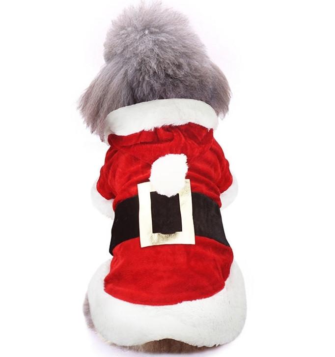 Толстовка для собак «Наряд Санты», кофта, джемпер, накидка, праздничная новогодняя одежда для собак