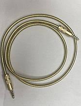 AUX 3.5mm (nana-nana) metal gold 0.85m