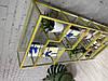Полка металлическая крашеная со стеклом. 180х80х30см, фото 2