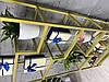 Полка металлическая крашеная со стеклом. 180х80х30см, фото 5