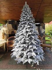 Елітна засніжена ялинка лита 1,5 м, ялинка штучна новорічна, ялинка
