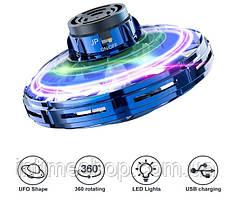 Спінер літаючий FlyNova Fidget Spinner PTW іграшка-антистрес з підсвічуванням LED   Синій летающий спиннер