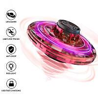 Іграшка-антистрес спінер літаючий FlyNova Fidget Spinner PTW спінєр з підсвічуванням LED   Червоний летающий спиннер
