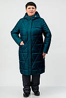 Демисезонное пальто Atrsun Таира изумруд 48
