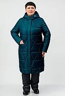 Демісезонне пальто Atrsun Таіра смарагд 56