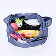 Сумка на коляску Baby Breeze 0355 серо-голубая, фото 2